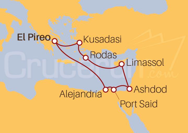 Itinerario Crucero Egipto, Israel, Chipre, Grecia, Turquía