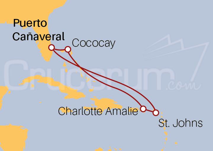 Itinerario Crucero Antigua e Islas Vírgenes