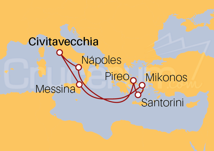 Itinerario Crucero Italia y Grecia