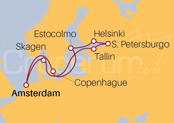 Itinerario Crucero Las capitales Bálticas