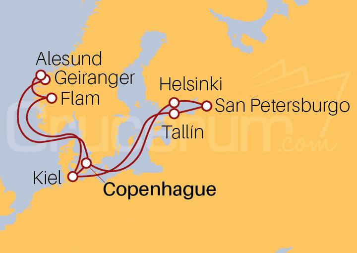 Itinerario Crucero Joyas del Báltico