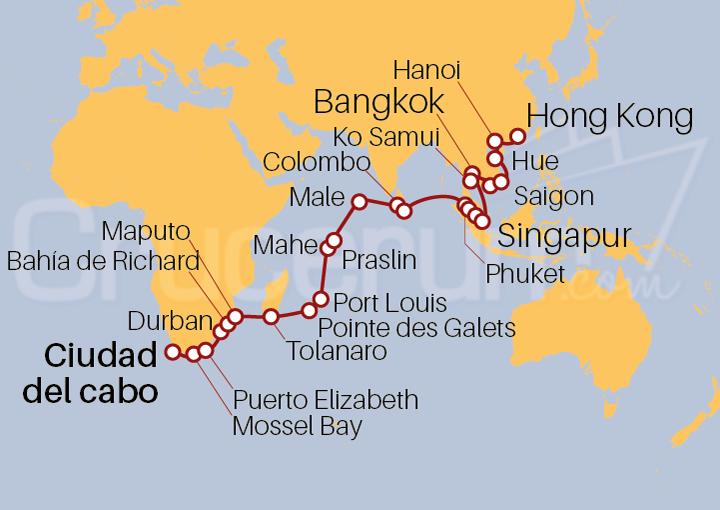 Itinerario Crucero Safaris y Santuarios