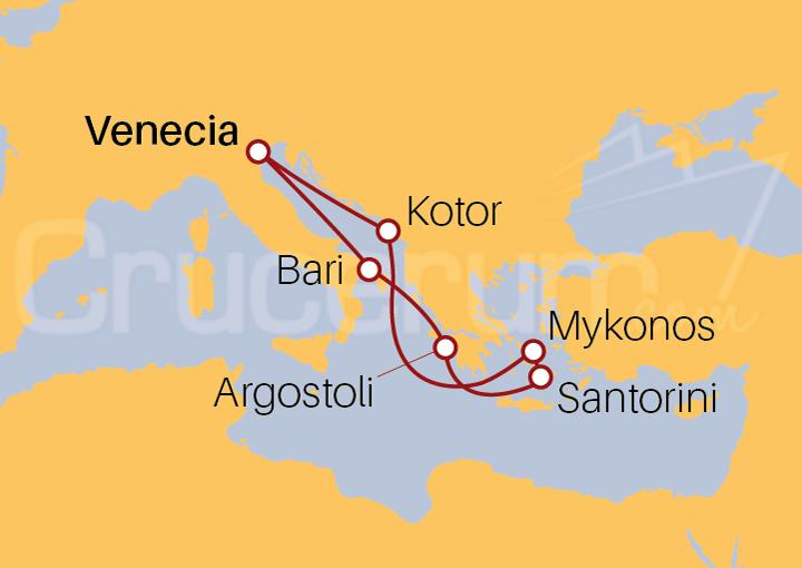 Itinerario Crucero Mar Adriático e Islas Griegas