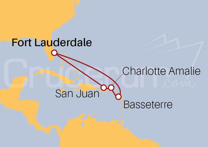 Itinerario Crucero El Caribe