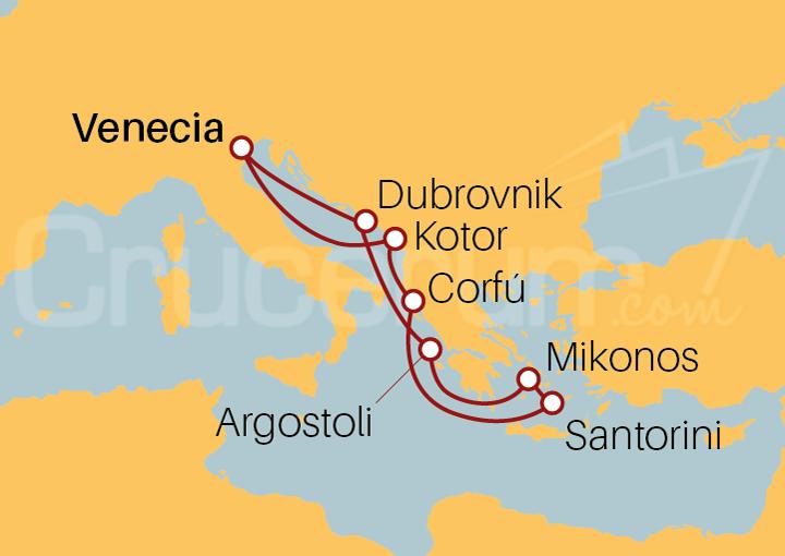 Itinerario Crucero Islas Griegas desde Venecia