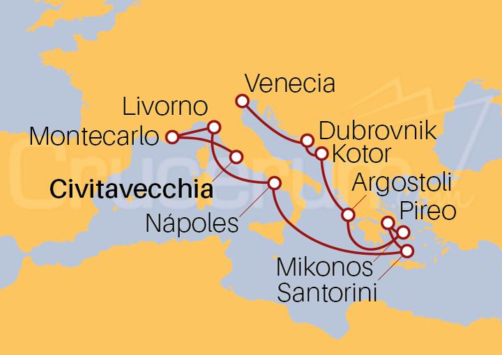 Itinerario Crucero Islas Griegas y Mar Adriático