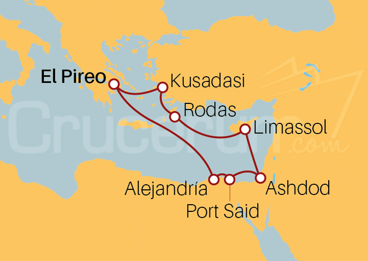 Itinerario Crucero Islas Griegas desde Limassol