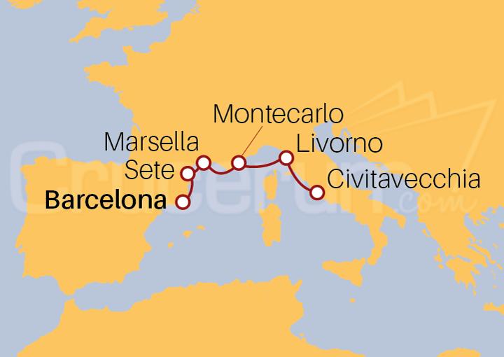 Itinerario Crucero Mediterráneo Icónico
