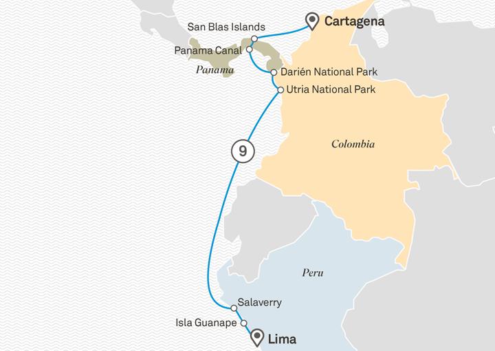 Itinerario Crucero Descubre Panamá y Colombia