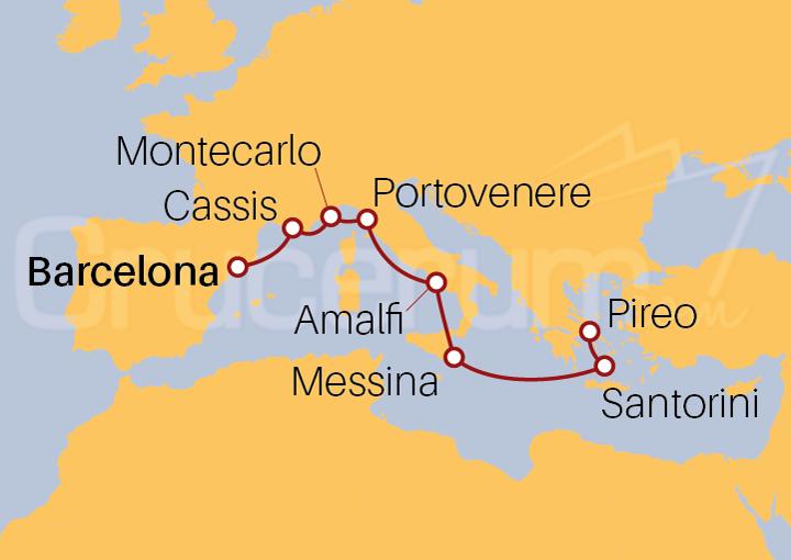Itinerario Crucero Descubre el Mediterráneo