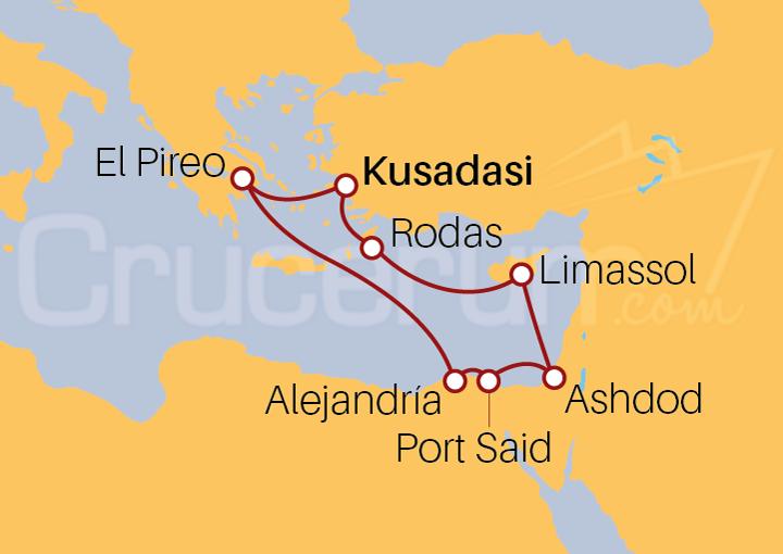 Itinerario Crucero 7 noches idílicas desde Kusadasi