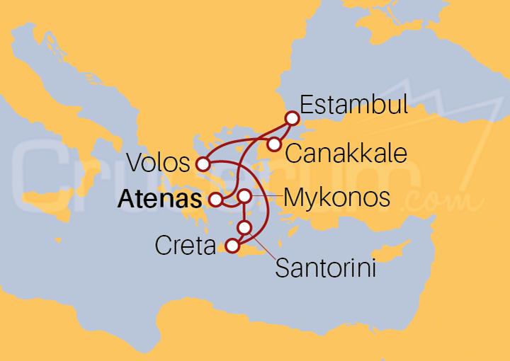 Itinerario Crucero Egeo Ecléctico
