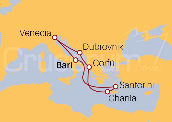 Itinerario Crucero Italia, Grecia y Croacia