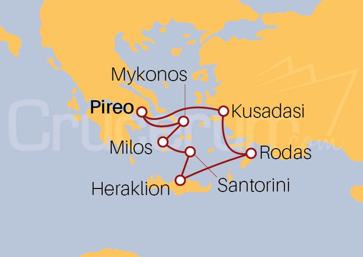 Itinerario Crucero Islas Griegas