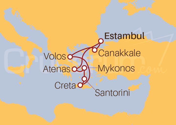 Itinerario Crucero Turquía y Grecia
