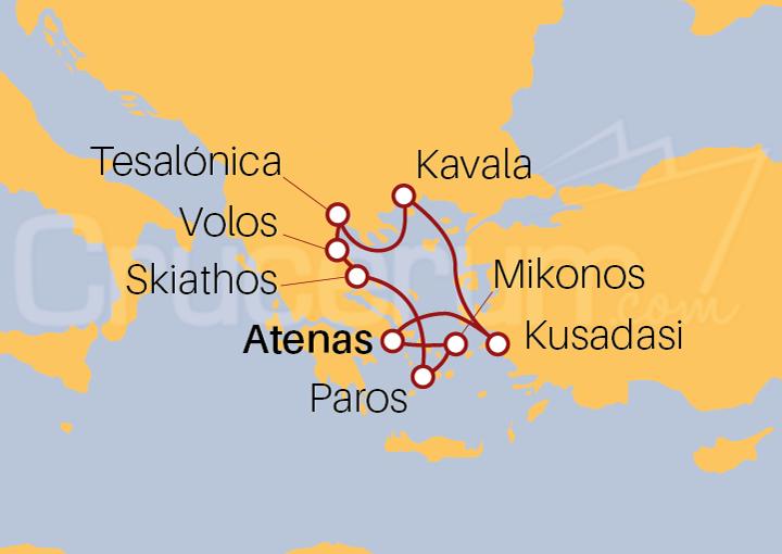 Itinerario Crucero Grecia y Turquía