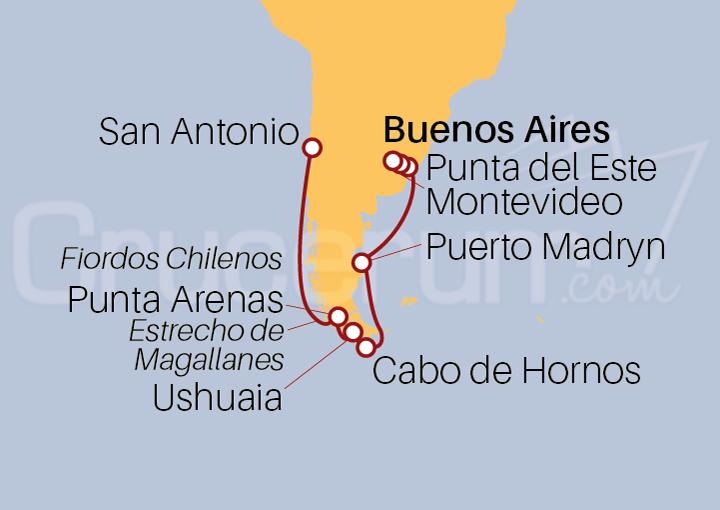 Itinerario Crucero De Buenos Aires a San Antonio