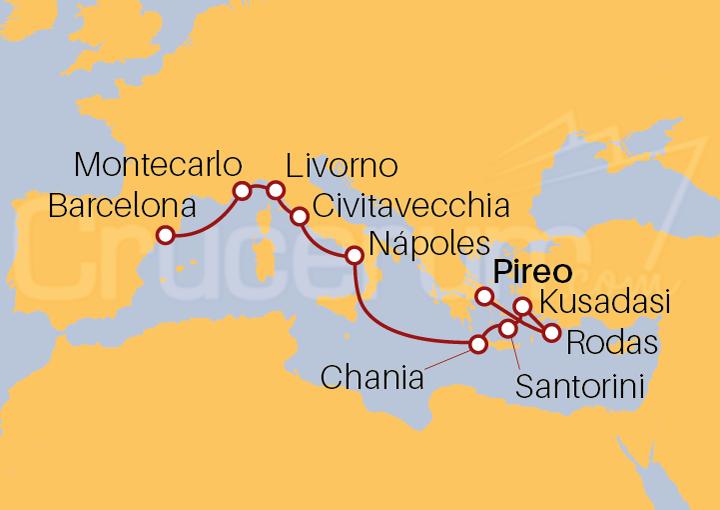 Itinerario Crucero Islas Griegas e Italia
