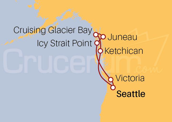 Itinerario Crucero Alaska desde Seattle