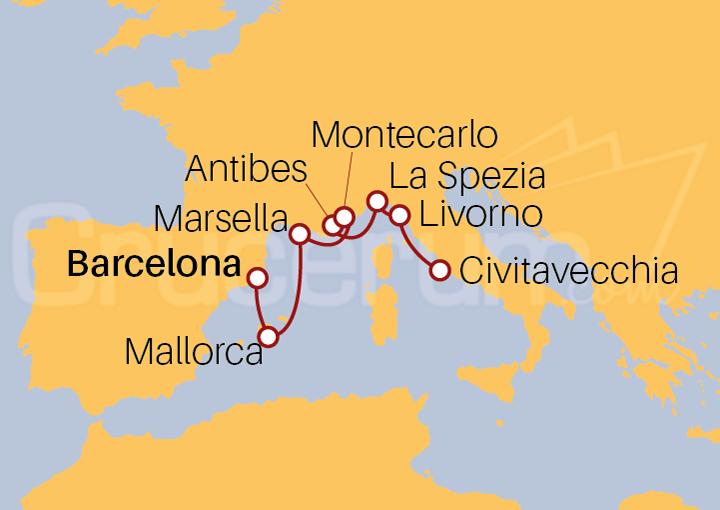 Itinerario Crucero Ramblas y Riberas