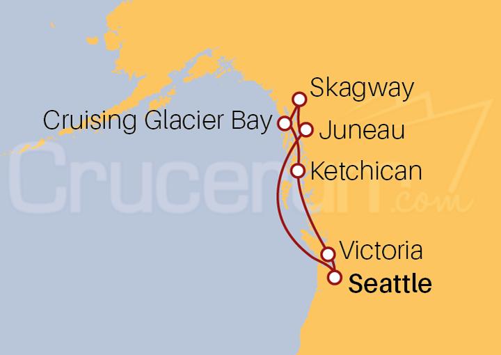 Itinerario Crucero Alaska