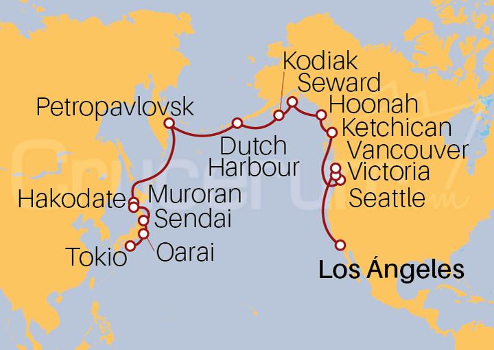 Itinerario Crucero Pintorescas Estrellas y Santuarios
