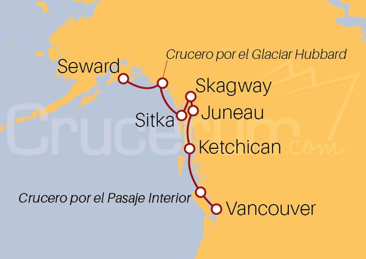 Itinerario Crucero La Fiebre del Oro y los Glaciares