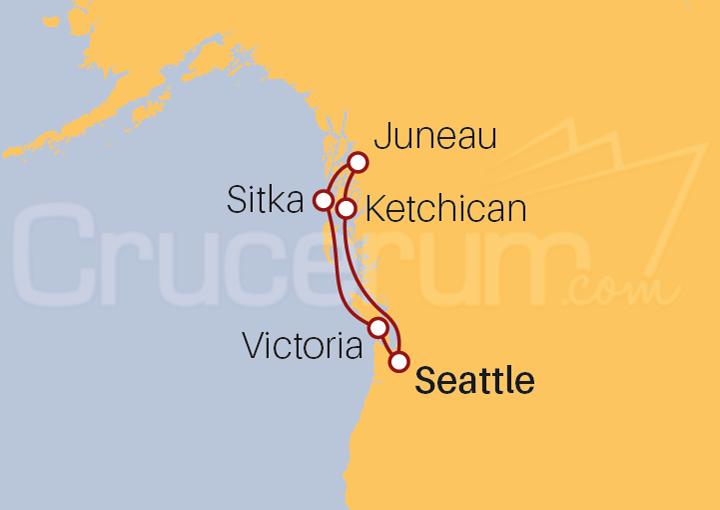 Itinerario Crucero Paisajes Deslumbrantes