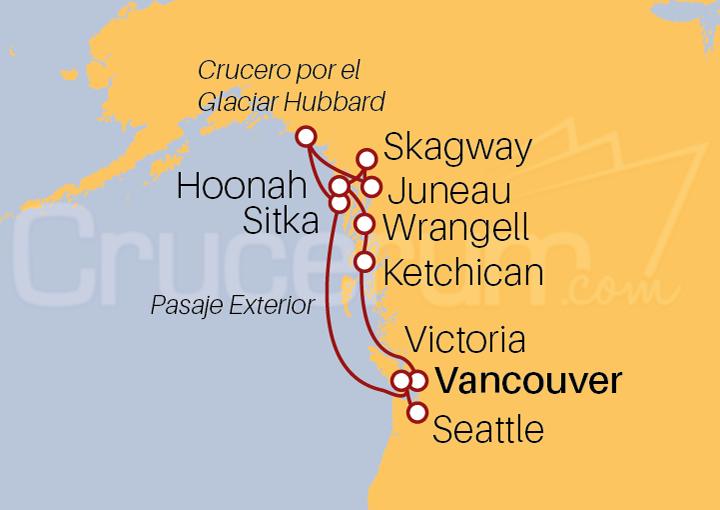 Itinerario Crucero Glaciares y Flores