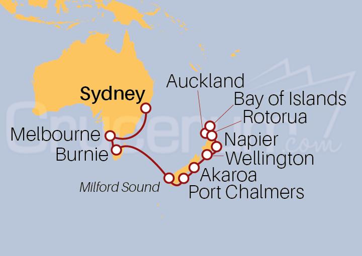 Itinerario Crucero Cuentos de Tasman