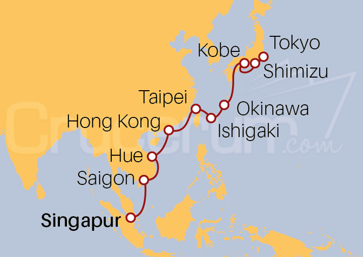 Itinerario Crucero De picos a pagodas