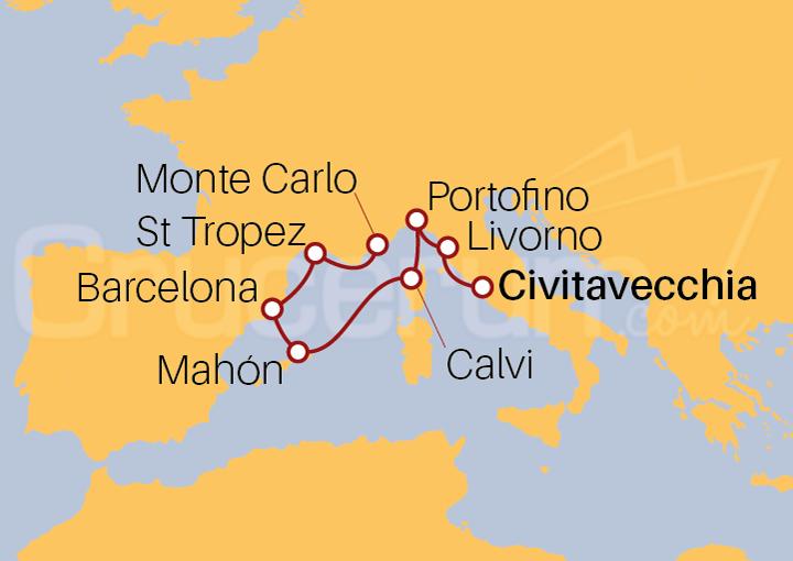 Itinerario Crucero Sol, Siestas y Sagrada Familia