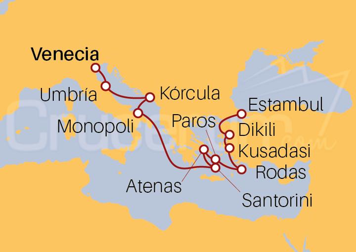 Itinerario Crucero De la Edad Media a la Mitología