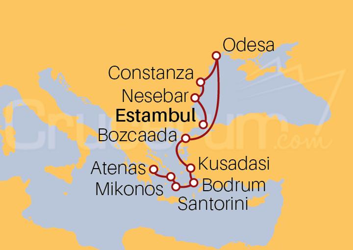 Itinerario Crucero Leyendas Griegas y Turcas