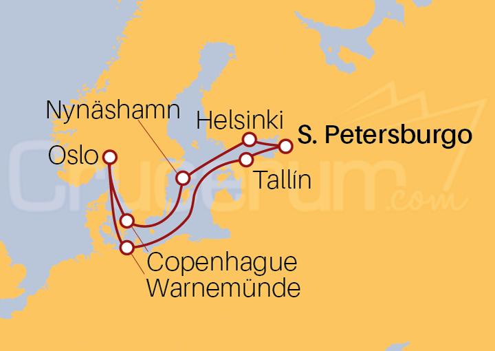 Itinerario Crucero Capitales Bálticas