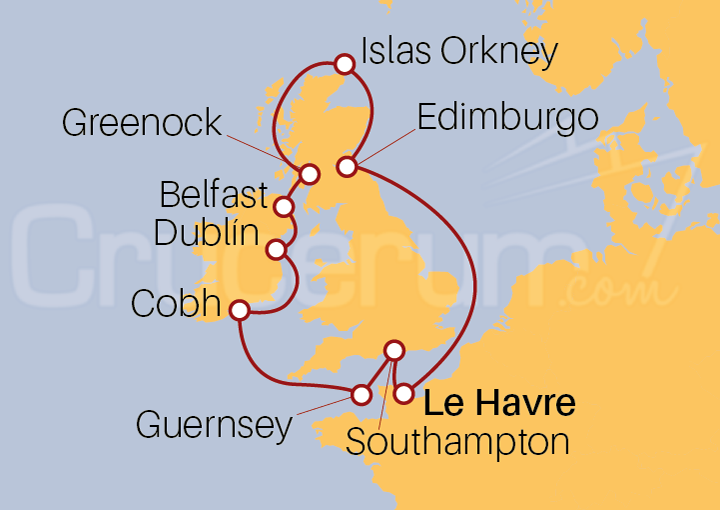 Itinerario Crucero Islas Británicas