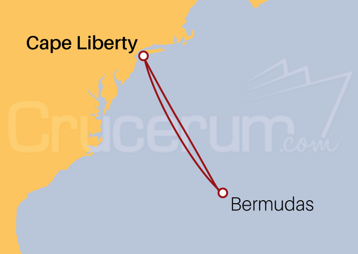 Itinerario Crucero Bermudas desde Cape Liberty