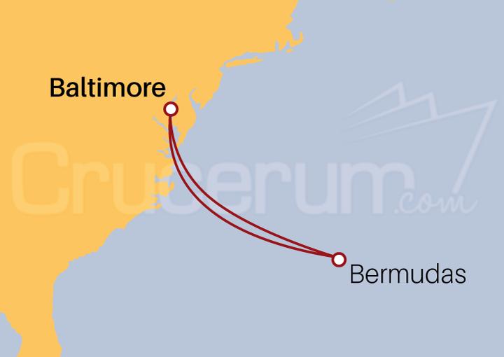 Itinerario Crucero Las Bermudas desde Baltimore