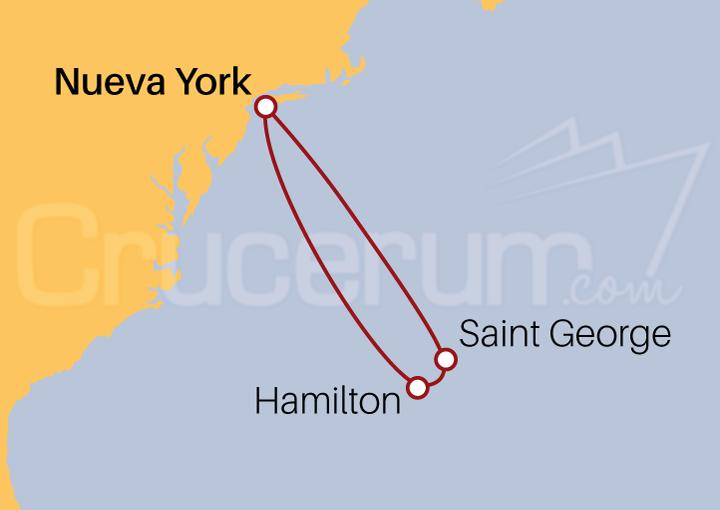 Itinerario Crucero Felicidad en las Bermudas