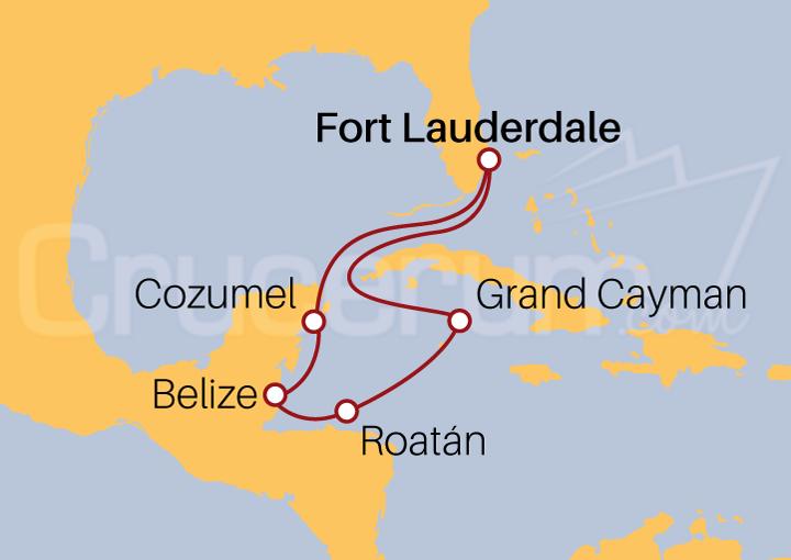 Itinerario Crucero Oeste Caribeño