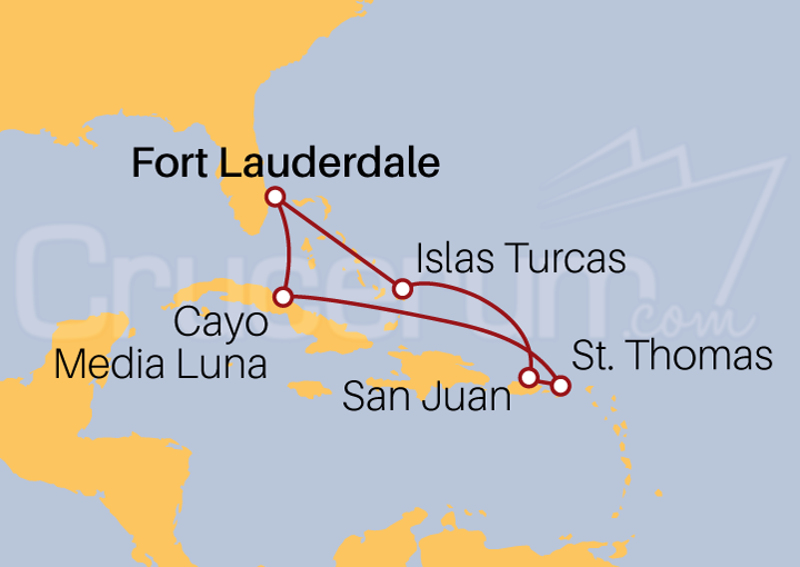 Itinerario Crucero Caribe Oriental por Navidad