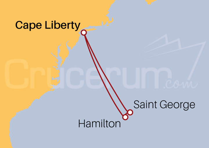 Itinerario Crucero Las Bermudas desde Cape Liberty