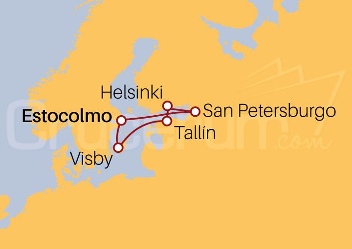 Itinerario Crucero Capitales Bálticas desde Estocolmo