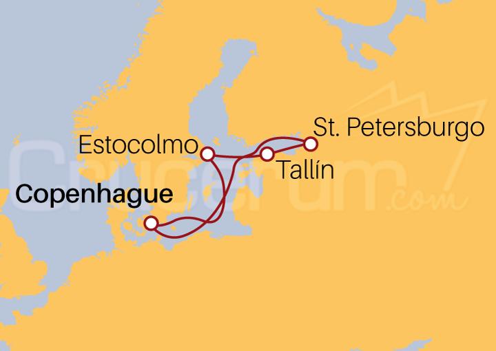 Itinerario Crucero Capitales del Báltico desde Copenhague