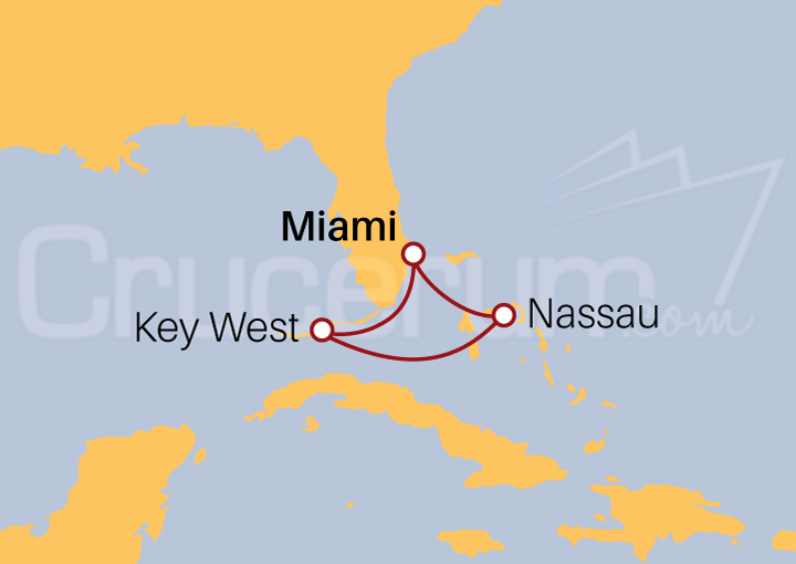 Itinerario Crucero Key West y Nassau