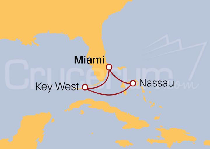 Itinerario Crucero Bahamas desde Miami