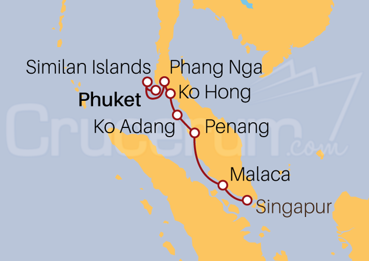 Itinerario Crucero 7 Noches por Phuket