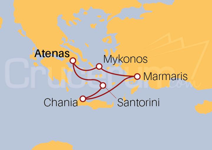 Itinerario Crucero Islas Griegas desde Atenas