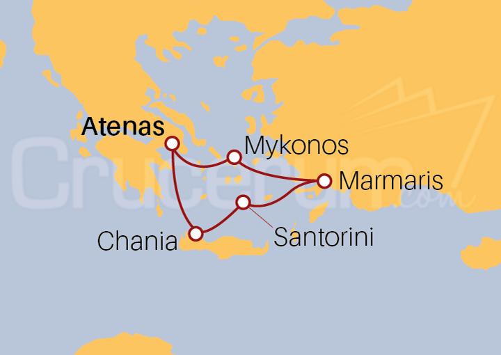 Itinerario Crucero Las Islas Griegas desde Atenas