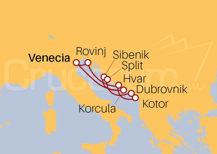 Itinerario Crucero Lo Mejor de Croacia desde Venecia